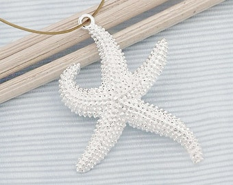 1 of 925 Sterling Silver Starfish Pendant 21x27mm. :th2430