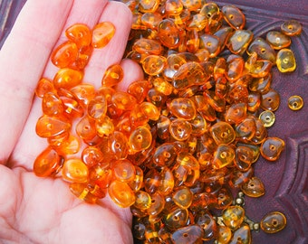 Big Lot of Genuine  Baltic Amber beads.  Honey brown smooth polished beads 1 oz 28 gr