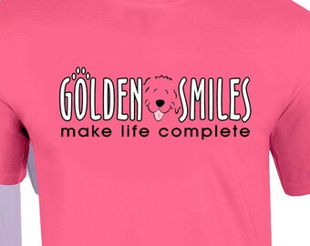 Golden Smiles T shirt YOU PICK COLOR