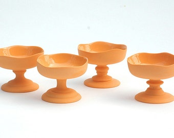 Pedestal Dessert Bowl - Tangerine (Set of 4)