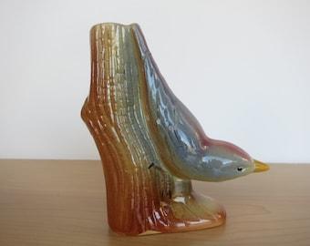 Bird Vase 1950's Vintage Ceramic Bird Figurine