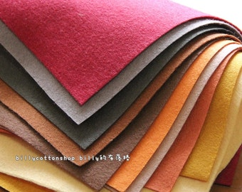 w505_95 - Wool Felt Sheets - scrap bundle - (30cm x 30cm) X 10 pieces