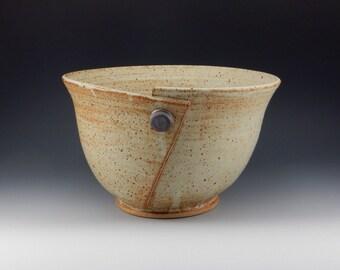 Large Handmade Button Bowl