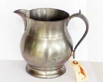 Antique Pewter Cider Pitcher Woodbury Pitcher 1800s