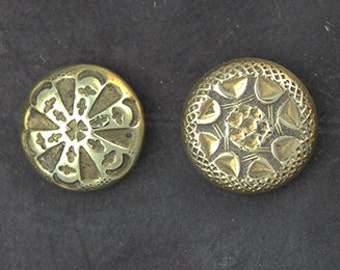 Antique Brass Button Set of 6