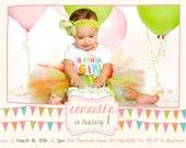 birthday party invitations, party invitations, kids party invitations, turning 1 invitation, boy birthday invitation, girl birthday invite