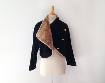 1950s Henri Bendel military style jacket  with with a double row of brass buttons