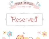 Reserved custom listing for Lydia