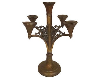 Antique Copper & Brass Candelabrum, Rogers Silver Company