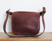 Vintage Coach Purse // Classic Shoulder Bag Burgundy Bordeaux // New York City Original Flap Handbag NYC