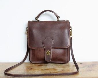 Vintage Coach Station Bag Brown // Coach Crossbody Messenger 5130 Purse Handbag