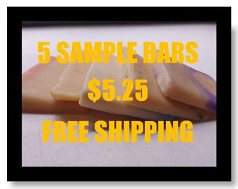 SAMPLE Bundles (5pk) Goat Milk Soap-FREE SHIPPING