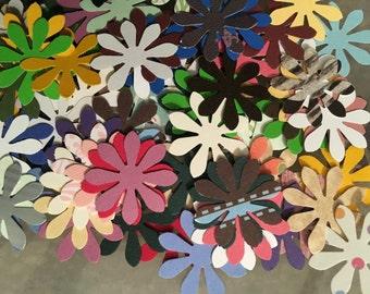 100 Mini paper flowers