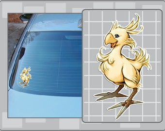 CHOCOBO from Final Fantasy Vinyl Decal No. 3 FF Sticker
