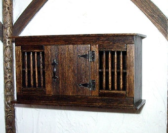 Medieval Dole Cupboard, Dollhouse Miniature 1/12 Scale, Hand Made