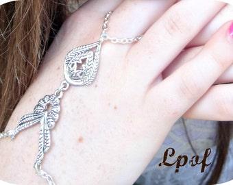 Hand Chain Bracelet Slave Bracelet Chain Bracelet Gift for her Boho Bracelet Bohemian Bracelet Silver Bracelet Fnky