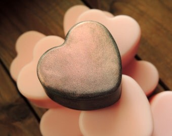Heart Soaps, Set of Ten, Pink Hearts, For Her, Sweethearts, Bushel of Hearts, Party Favors, Wedding Favors, Custom Scented