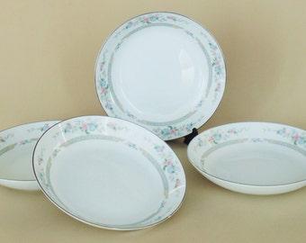 4 Salad Soup Bowls Lynnbrooke China Heritage Pattern 1981 PRISTINE