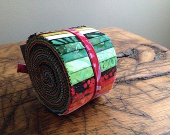 Anthology Batik Fabric BeColourful Story Strips Jelly Roll, Quilting, BA212-161