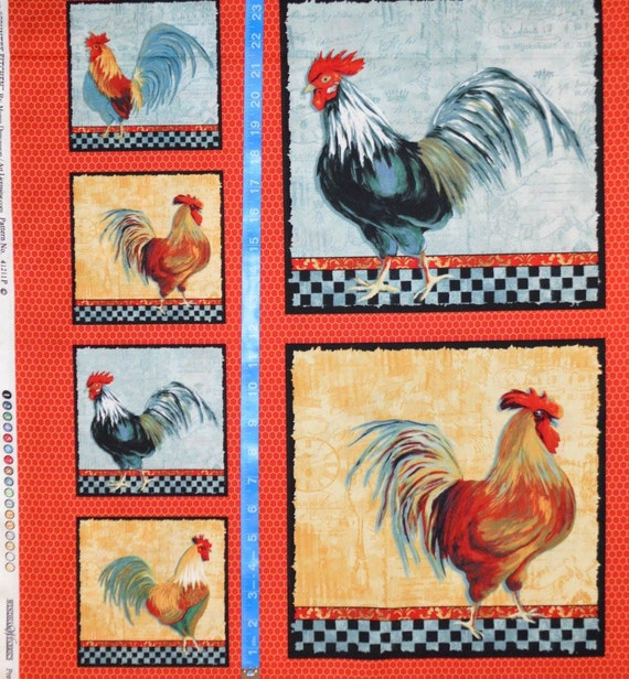 country kitchen fabric windham fabrics country kitchen rooster blocks 2 3 yard 2793