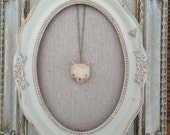 Kitty Cat Charm Necklace Folk art paperclay