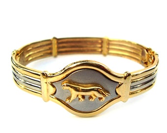 Panther Cuff Bracelet Vintage Ladies Jewelry Gold Silver Metal Bangle Bracelets Women Designer Fashion Cartier Style
