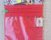 Fairytella Ouch e bag. Ju-Ju-Be customs pouch clear zipper pouch