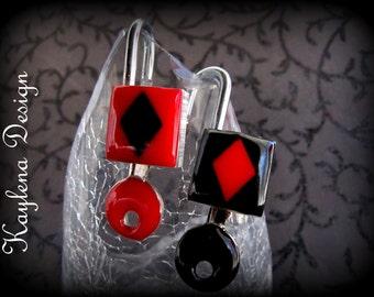Diamond inlay, lock,  Fetish Padlock, Working Lock