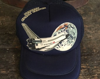 Vintage NASA Kennedy Space Center Trucker Hat/Snapback/Hipster Hat