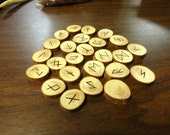 Cypress rune set - Elder Futhark - FREE DOMESTIC SHIPPING - medium large
