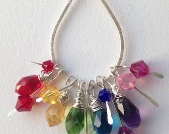 Chandelier Rainbow Funding Earrings