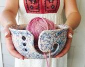 Pink Yarn Bowl | Handmade Ceramic | Yarn Bowl | Knitting Accessory | Gift for Crocheters | Handmade in my Charleston, SC Studio