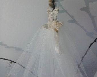 Assemblage Art miniature ballet dress