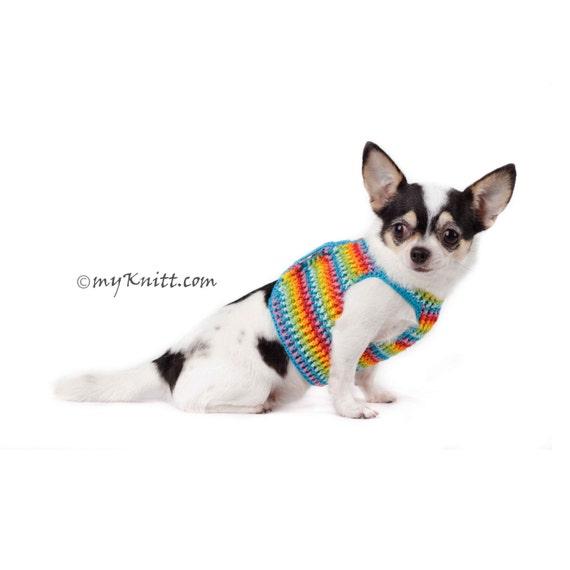 Regenbogen Hund Geschirr Weste niedlich Teetasse Chihuahua