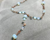 Opalite wire wrapped necklace