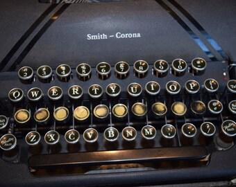 Vintage Smith Corona Sterling Typewriter /  Display Piece /  Wedding Decor