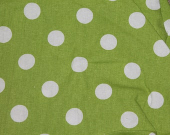 Green and White Polka Dot Crib/Toddler Bed Fitted Sheet