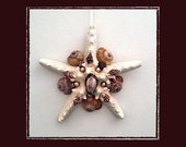 "RESERVED-RK Starfish Sea Shell Keepsake Ornament Accent #80 (Size 6.5""), Beach/Nautical/Coastal Decor, Keepsake Ornament/Wall Accent"