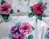 Vintage 1980s 1990s Cotton taffeta floral print, 1 yard