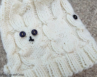 Snow Bunny Knit Hat Pattern