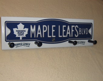 "Toronto Maple Leafs coat rack ""hangup""  (convo me for your favorite team)"