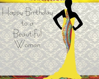 Candace 2 Black female birthday card