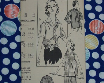 Vintage Pattern Mail Order No.2042 Blouse, Size 16