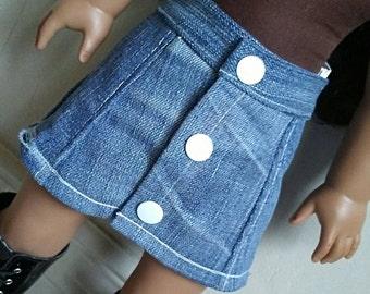 Denim skirt for 18 inch dolls