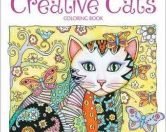 Adult Coloring Book - Creative Cats by Creative Haven - Shipping Only 4 DOllars  (33682769)