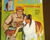 Vintage Lassie Sticker Fun Book UNUSED