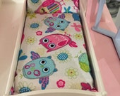 Bed Mattress For Little Tikes Dollhouse- Fits Vintage & Grandparents House- owls