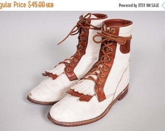 30% OFF Justin Two Toned Lacer Boot Size 6.5 B