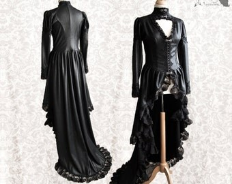Over dress Victorian goth, Steampunk bustle blouse with train,Issoire,Somnia Romantica, size small-medium, see item details for measurements