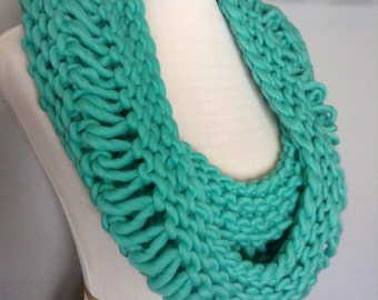 Green Oversized Scarf, Oversized Knitted Scarf, Knit Wool Scarf, Women's Scarf, Chunky Knit Scarf, Luxe Women's Scarf, Luxe Wool Scarf